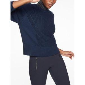 Athleta Cortina Sweater in Navy Blue
